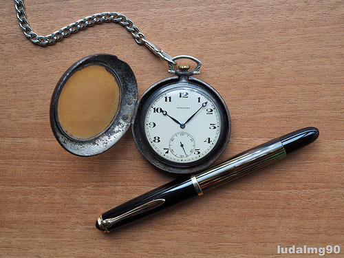 photo credit: 20's Longines pocket watch & 50's Pelikan 400nn Tortoise via photopin (license)
